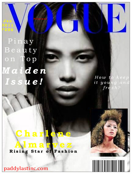 Vogue Philippines imaginary cover with Charlene Almarvez, 1st Runner-up Supermodel of the World 2010 (Photo Courtesy of Ford Models, Charlene Almarvez)