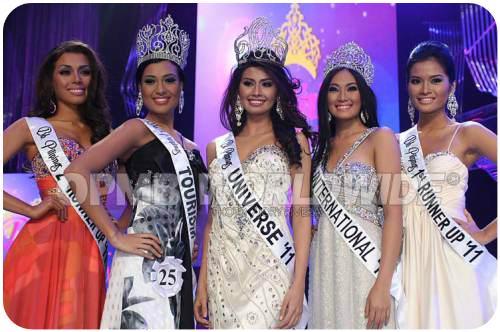 Binibining Pilipinas 2011 Winners and their court.