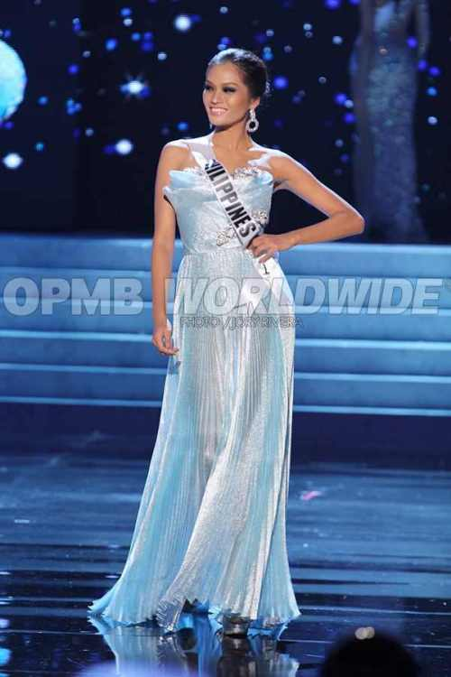 Janine Tugonon\'s Official Evening Gown For Miss Universe 2012 ...