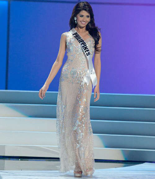 Shamcey During The Miss Universe 2011 Evening Gown Competition