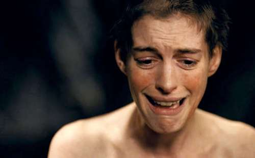 Anne Hathaway in one of the most heart wrenching scene of Les Mis