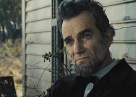 Daniel Day Lewis masterfully portraying Abraham Lincoln