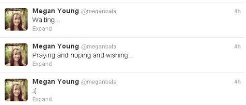 Megan's tweets four hours ago.
