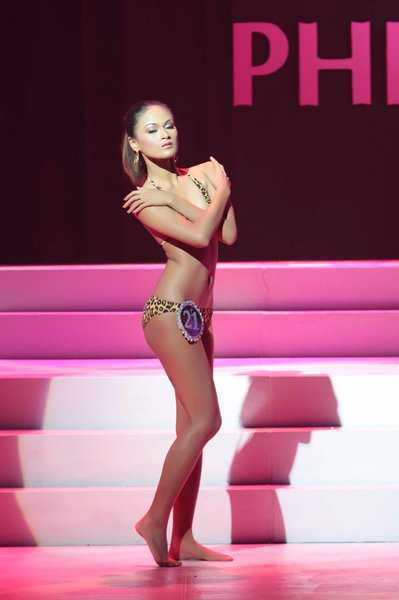 Ria during the Miss Bikini Philippines 2008