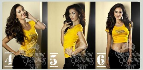 4. Mutya Datul, 5. Merry Joyce Respicio 6. Bea Rose Santiago