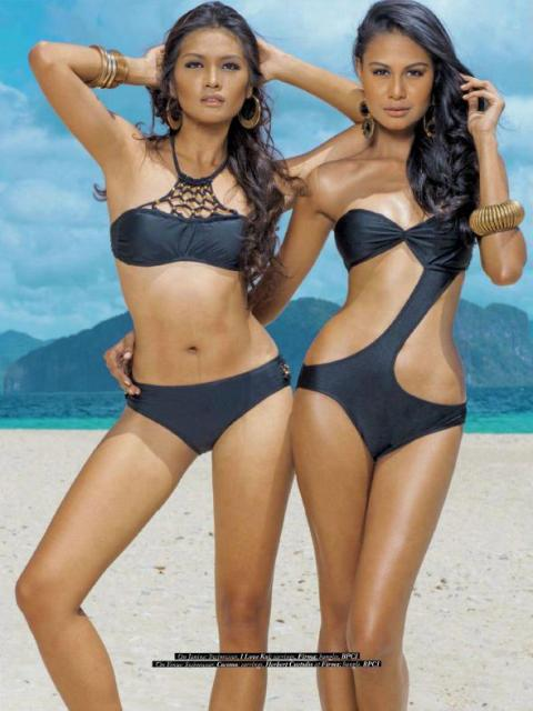 Janine Tugonon (Miss Universe 2012 first runner-up) and Maria Venus Raj (Miss Universe 2010 4th runner up)