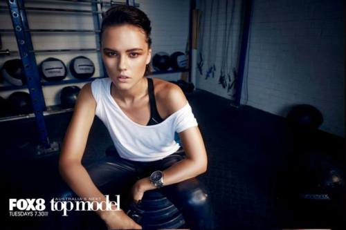 This I love for some reason. April looks like an athletic  model because of her cheekbones and androgynous look!