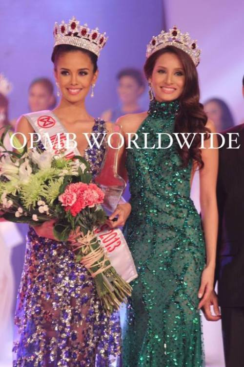 Megan with 2012 Miss World Philippines Queenie Rehman.
