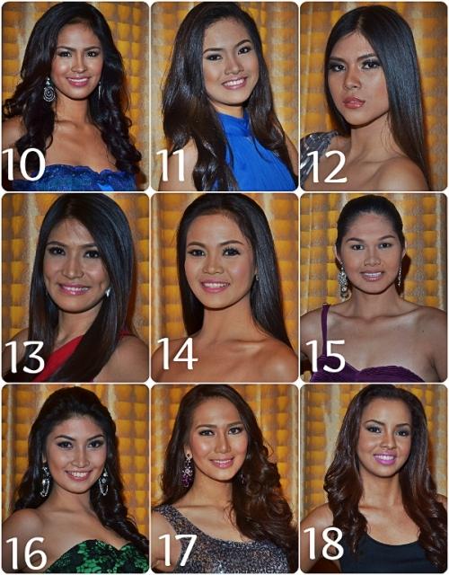 Contestants 10 - 18