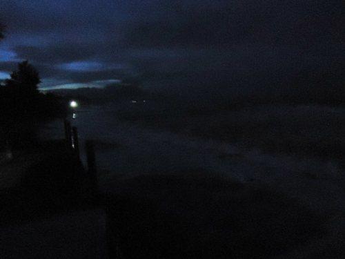 the beachfront at around 5AM