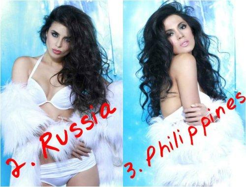 Russia's  Elmira Abdrazakova and Ariella Arida of the Philippines