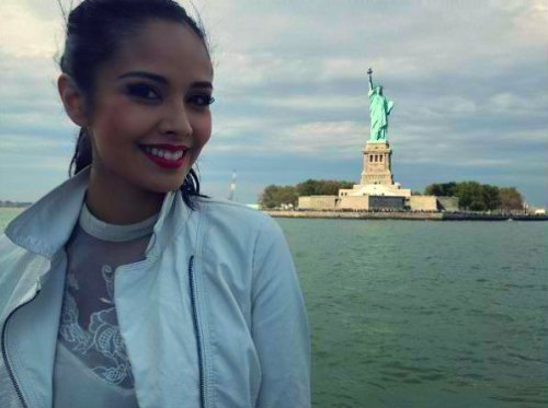 Miss World 2013 and The Statue of Liberty!