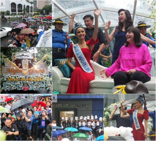 Megan's homecoming parade in Makati! via missworld