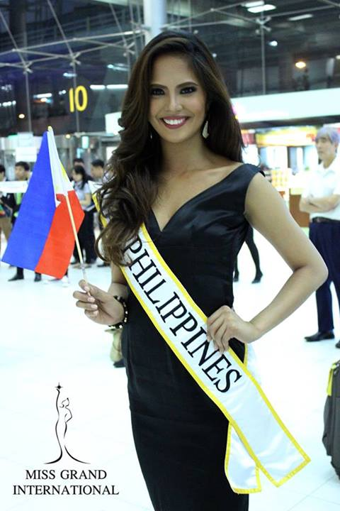 Ali Forbes arrival in Thailand via Miss Grand International FB