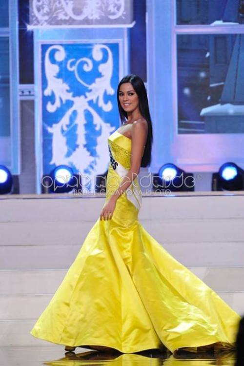 This gown was apparently made by Colombian designer Alfredo Barraza