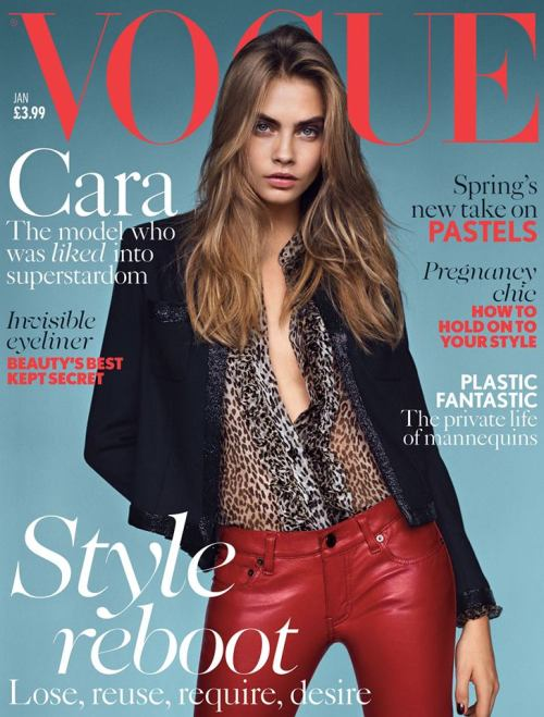 Well, the public loves her and so as the British Vogue - that folks, is Cara Delevingne