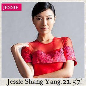 from China, Jessie has already modeled before