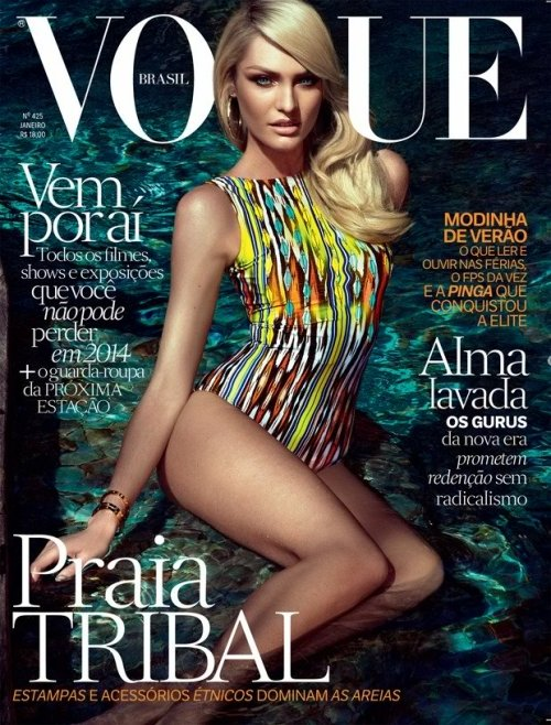 Here's another cover version of Candice for the January edition of the Brazilian Vogue