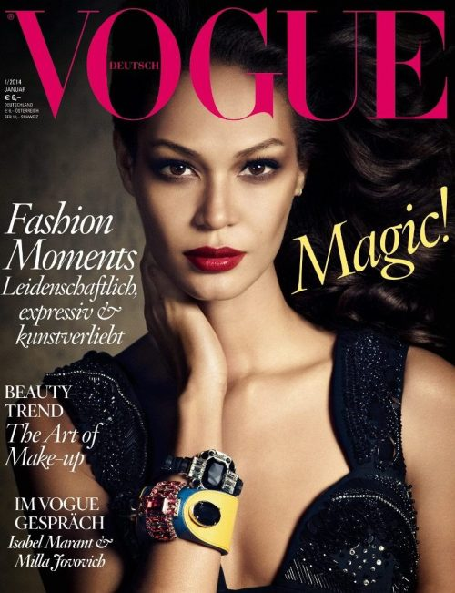 Joan Small, Models.com number one model since 2012 gracing the German edition!