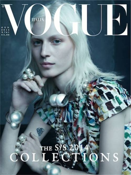 Julia Nobis is perfection for the January edition of the Italian Vogue