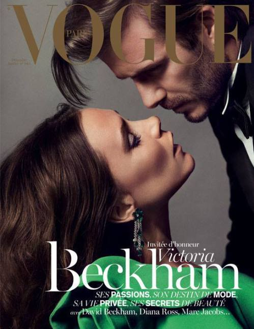 Mr. and Mrs. Beckham invading the French Vogue