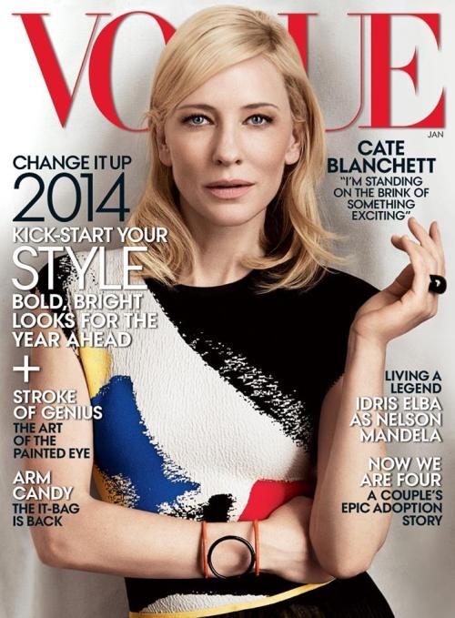 the royal highness herself, Academy Award winner Cate Blanchett headlining the American Vogue
