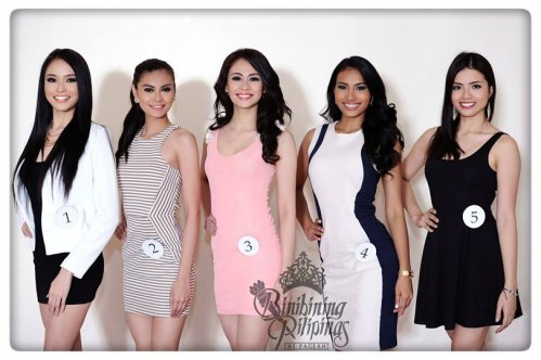 Binibini #1 Julian Aurine Flores; Binibini #2 Mary Ainjey P. Manalo; Binibini #3 Joanna Angelica M. Romero; Binibini #4 Parul Shah; Binibini #5 Hanna Mariz D. Dela Guerra