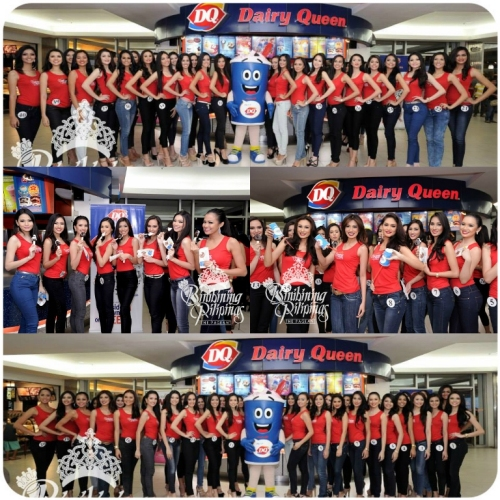 Bb. Pilipinas Candidates at Dairy Queen in  Ali Mall