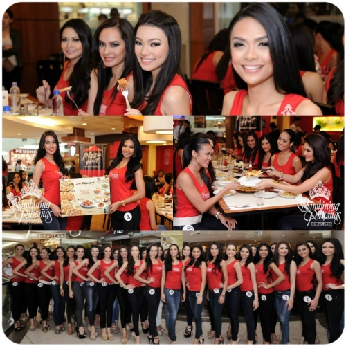 Bb. Pilipinas Candidates at Pizza Hut Gateway Mall