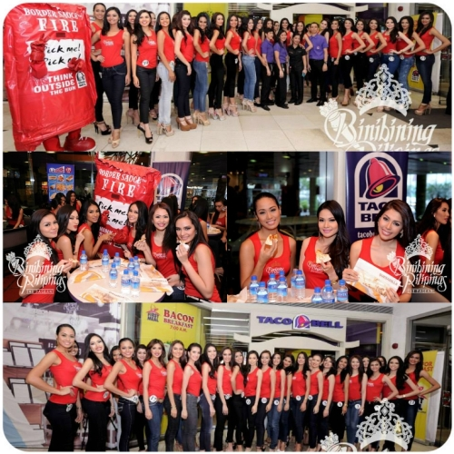 Bb. Pilipinas Candidates at Taco Bell Gateway Mall