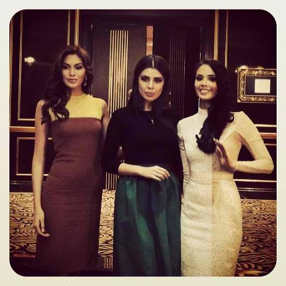Miss Universe 2013 Gabriela Isler, Miss Russia 2013 Elmira Abdrazakova and Miss World 2013 Megan Young via missosology