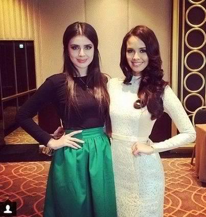 Megan with Miss Russia 2013 Elmira Abdrazakova  via missosology