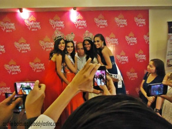 The Kagandahang Flores Queens with their mentor Mr. Rodgil Flores