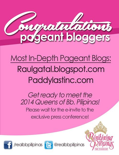paddylastinc was chosen along with raulgatal.blogspot.com as the most in-dept pageant blogs. Big thanks!!!