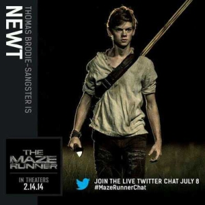 Thomas Brodie-Sangster as one of the Gladers Leader - Newt
