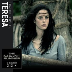 Teresa is the first girl to enter the Maze - also the last person to enter it in the book.