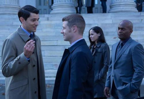 Nicholas D'Agosto as Harvey Dent and Ben McKenzie as James Gordon