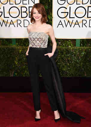 This Lavin jumpsuit made Emma Stone ultra cool but perhaps a wee bit casual for the occasion but damn...