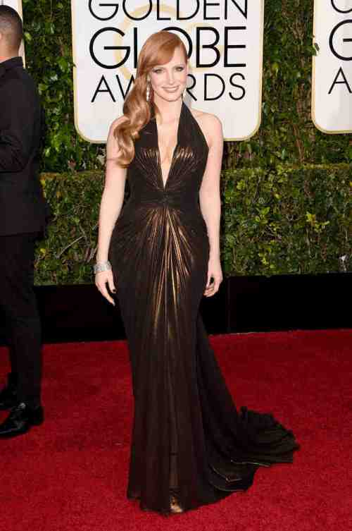 """A Most Violent Year"" star Jessica Chastain will always be a favorite of mine in the red carpet. This girl knows her fashion!!!  She may have lost the 'Globes this year but she's owning the red carpet big time in this Atelier Versace number! Bravo!"