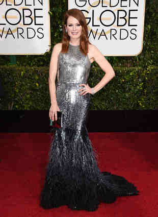 This custom made couture from Givenchy makes Julianne Moore a double winner for me as well!