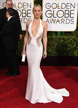 Another Versace number made Kate Hudson the goddess in white!
