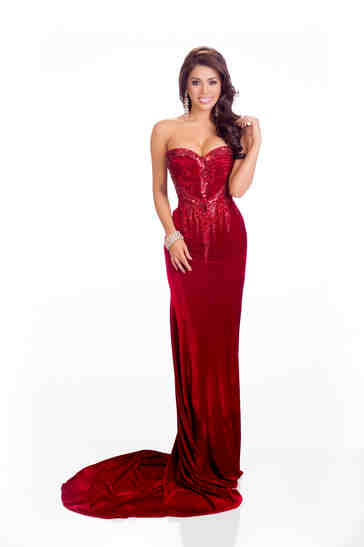 MJ in Red Evening Gown