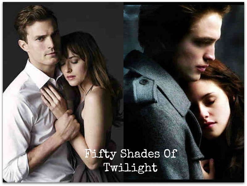 comparing twilight and fifty shades of Say what you like about the twilight saga, but the movies are escapist and fun,  and  amazon's largest pre-order of all time is fifty shades.