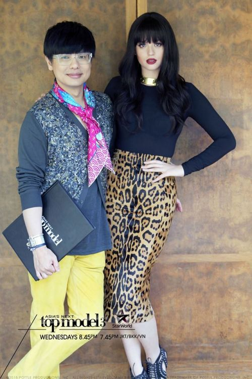 Harper's BAZAAR Singapore Editor-In-Chief Kenneth Goh with host Georgina Wilson