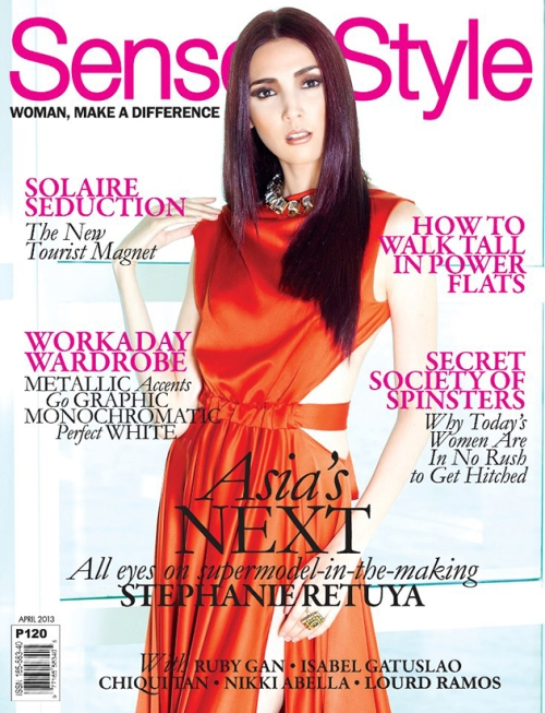 gracing the cover of Sense & Style magazine a month after her successful finish from the show. via fashionmediaph.blogspot.com