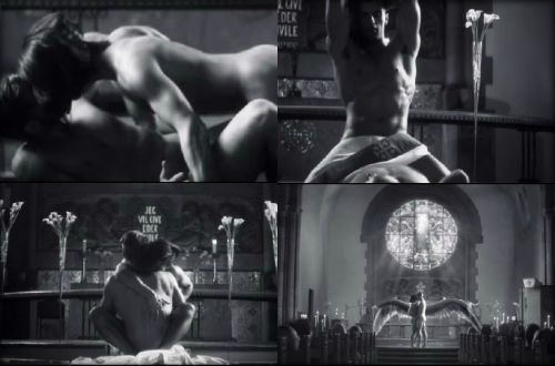 "stills from his ""Father"" video which you can watch below"