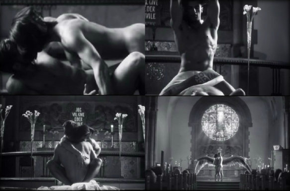"""stills from his """"Father"""" video which you can watch below"""