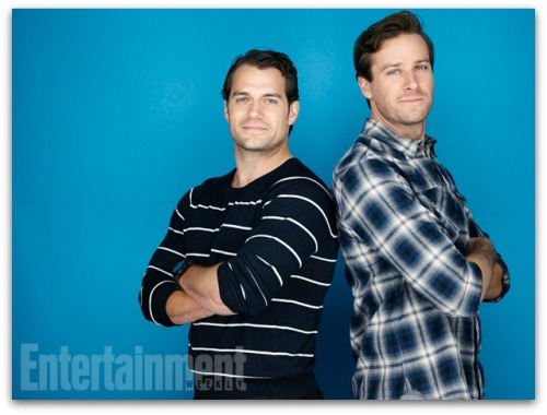 Henry Cavill and Army Hammer via Entertainment Weekly