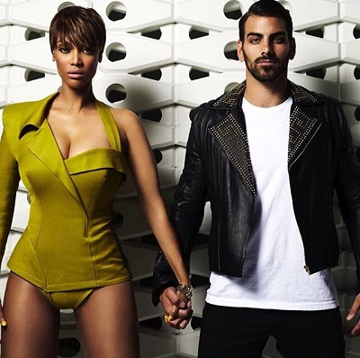 Tyra with Cycle 22 winner Nyle Di Marco