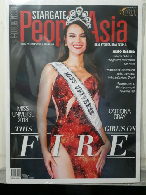 You Can Now Buy Your Own Copy Of Catriona Grays First Printed Magazine Cover As Miss Universe Through PeopleAsias Special Collectors Issue This Month